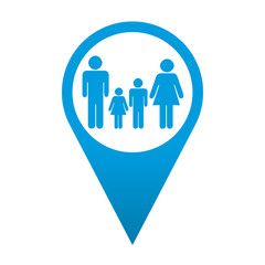 Icono localizacion simbolo familia