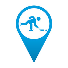 Icono localizacion simbolo hockey sobre hielo