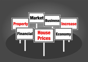 House prices signs