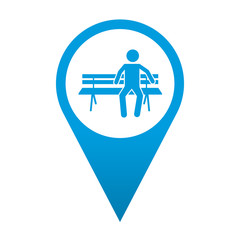 Icono localizacion simbolo zona de descanso