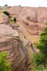 Gorge Running Through Red Rock Hill