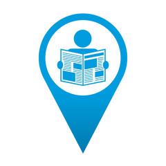 Icono localizacion simbolo lector de periodico