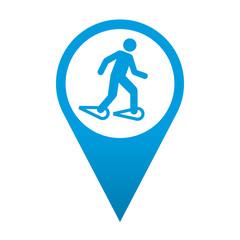 Icono localizacion simbolo raquetas de nieve