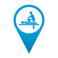 Icono localizacion simbolo quiropractico