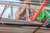 people work welding steel bars on construction site.