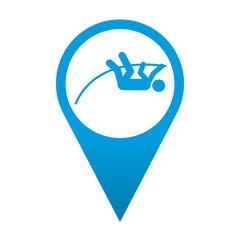 Icono localizacion simbolo salto con pertiga