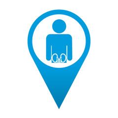 Icono localizacion simbolo urologia