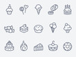 Sweet pastry icons - 65228513