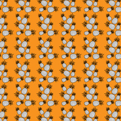 Seamless pattern composed of pineapple