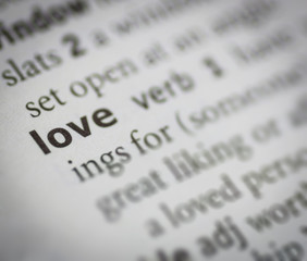 love meaning with dictionary style