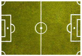 Fussballfeld Rasenfläche mit Linien von oben als Hintergrund