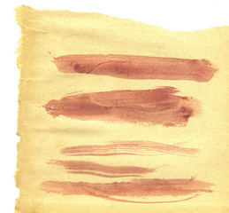 Brown Brush Strokes