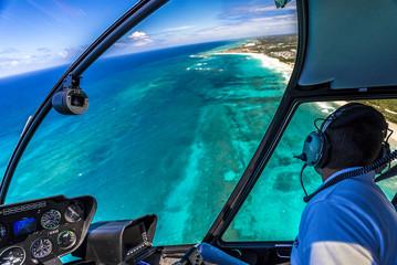 Полет над побережьем