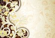 Abstract Brown and Yellow Floral Background