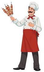 Happy chef - illustrations