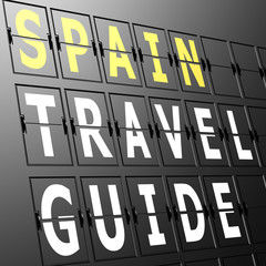 Airport display Spain travel guide