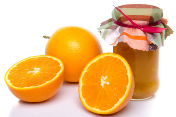 Orange marmalade with oranges