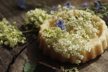 Holunderblüten Kuchen