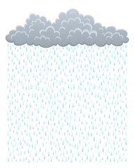 Cloud with rain