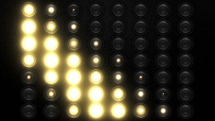 Realistic floodlight 7 animations in 2 versions