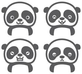 パンダのキャラクターアイコン