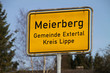 Ortsschild Meierberg