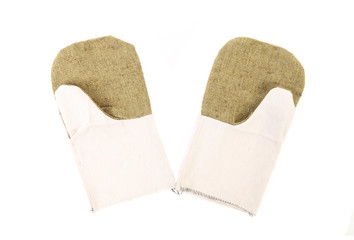 Pair of working mittens.