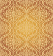 Golden seamless pattern. Vector illustration.