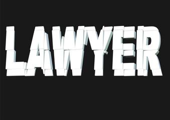 beyaz avukat yazısı