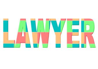 renkli avukat yazısı
