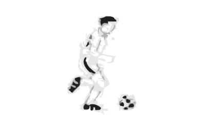 Futbolista corriendo