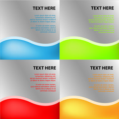 abstract modern wave design, vector background