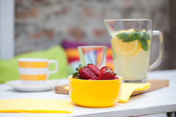 Strawberries and lemonade