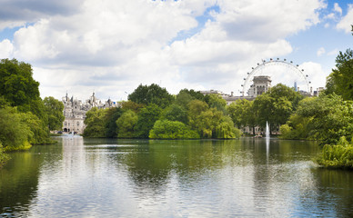 St James park, nature island in the middle of busy London