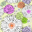 Vector flowers background Seamless pattern