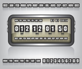 Countdown Timer and Date illustration