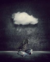 sitting under cloud