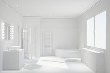 Modernes weißes sauberes Bad