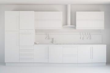 CAD-Entwurf einer neuen Küche