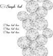 Vector black and white floral background Seamless vertical