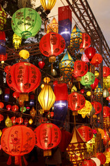 colorful international lanterns, Chiang Mai, Thailand
