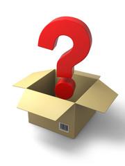 question mark in box