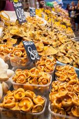 Funghi in vendita,Barcellona, Spagna