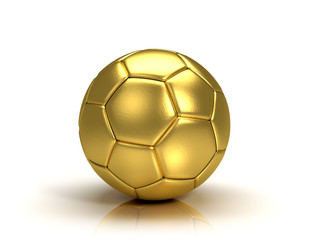 gold ball on white background