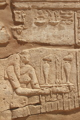 ancient rock carving of Kom Ombo Temple