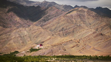 Leh temple mountain timelapse