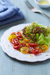 Cherry Tomato and Lettuce Salad with Sesame Seeds