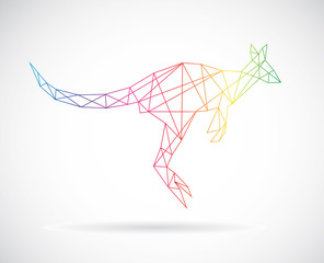 Vector design of kangaroos