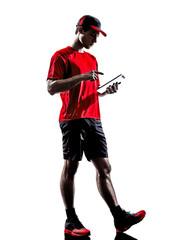 runner jogger digital tablets ipad silhouette