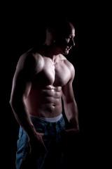 Nackter Oberkörper Bodybuildng Mann